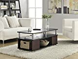 Ameriwood Home Carson Coffee Table (Cherry/Black)