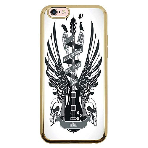 Capa Intelimix Intelislim Dourado Apple iPhone 6 6s Música - MU29