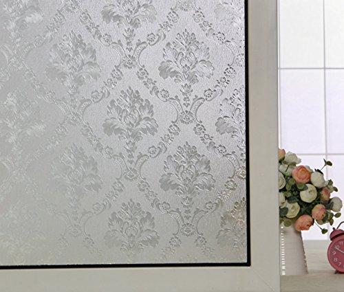 AW1007-2 90x200cm 35.4X78.7 Aojia No-Glue 3D Static Decorative Privacy Window Film, 35.4/'X78.7/' AW1007-2 90x200cm