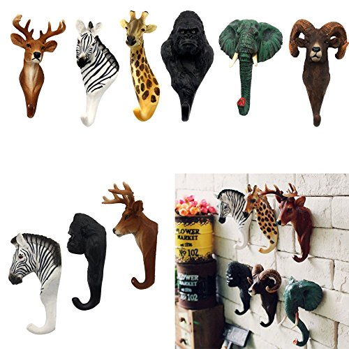 Lovely Animal Deer Antlers Decorative Wall Hook Rack Coat Hat Key Hanging Rack (Dry Dock Hitch)
