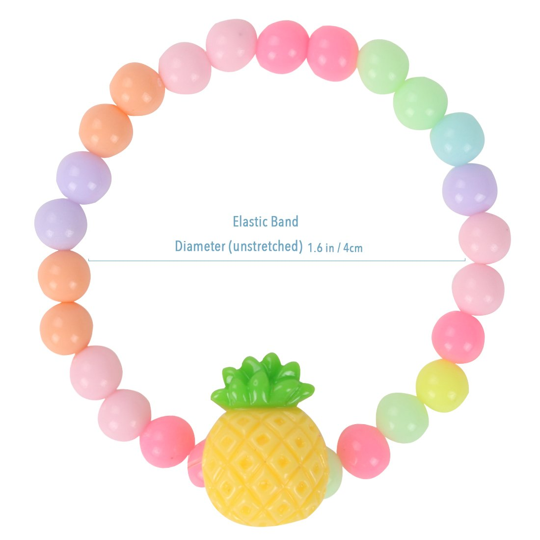 kilofly 6 Sets Princess Party Favors Girls Jewelry Rings Elastic Bracelets Pack by kilofly (Image #5)