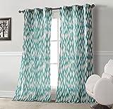 Cheap Duck River Textiles Kensie Home 'Caitlin' Cotton-Satin Look Grommet Pair Panels, Teal