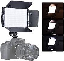 Andoer Tolifo PT-15B Pro II 15W LED Panel de Luz Regulable Bi-Color 3200 k-5600 Ultra Delgado L/ámpara de la En-C/ámara con 4-Hoja de la Puerta del Granero Pantalla LCD 2,4 g Inal/ámbrico
