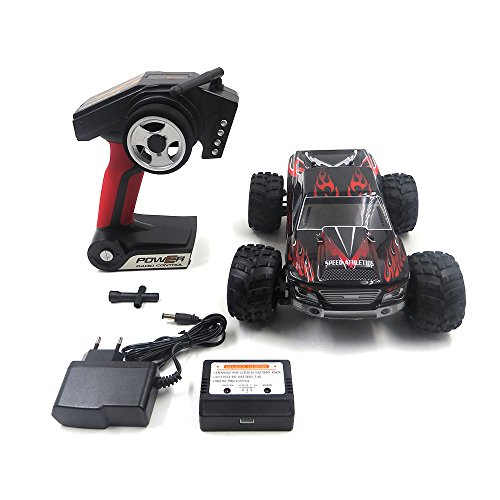 WLtoys RC Rock Off-Road Vehicle 2.4Ghz 4WD High Speed 1:18 Racing Cars RC Cars Remote Radio Control Cars Electric Rock Crawler Electric Buggy Hobby Car Fast Race Crawler Truck(Black)