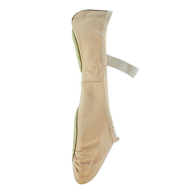 Starlite Flexi Black Split Sole Sole Leather Ballet Shoes 7.5L gnWf5