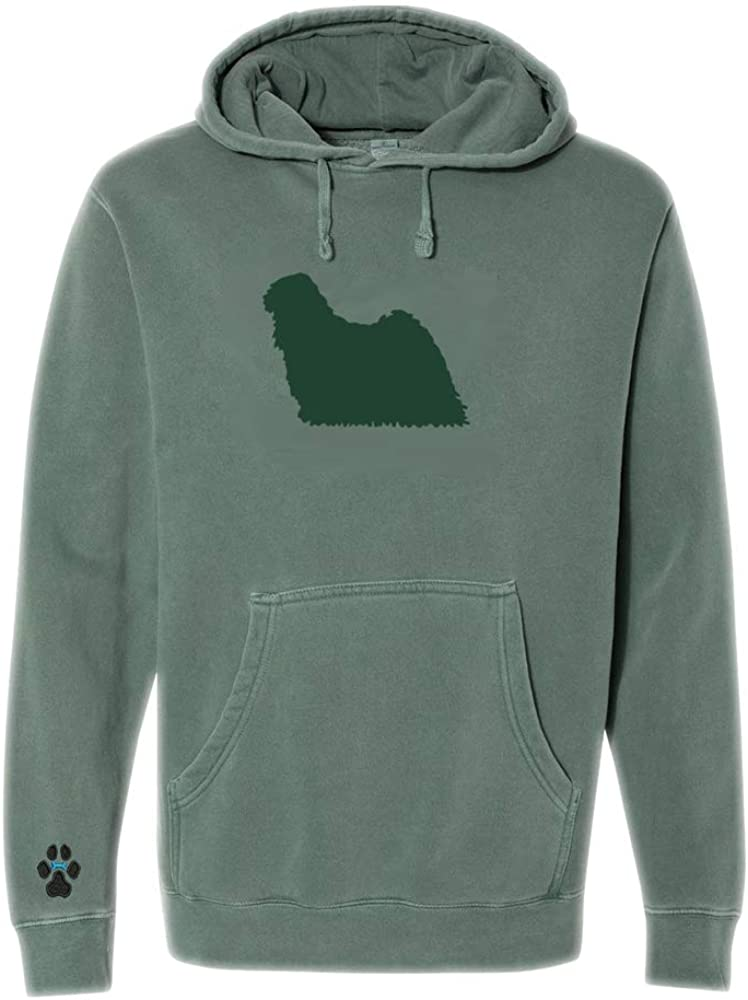 Heavyweight Pigment-Dyed Hooded Sweatshirt with/Puli Silhouette