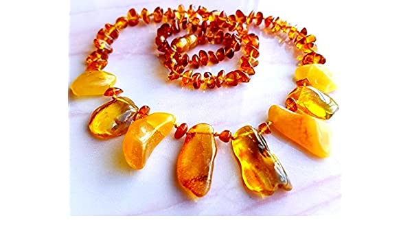 AMBERMILANA Natural Baltic Amber Necklace//Women//Healing Amber Necklace//Certified Genuine Baltic Amber