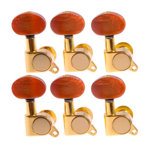 1set 6ピースRight Hand k-801 Enclosed Gold Tuning PegsマシンヘッドチューナーW / L。。。   B00XMZDXL8
