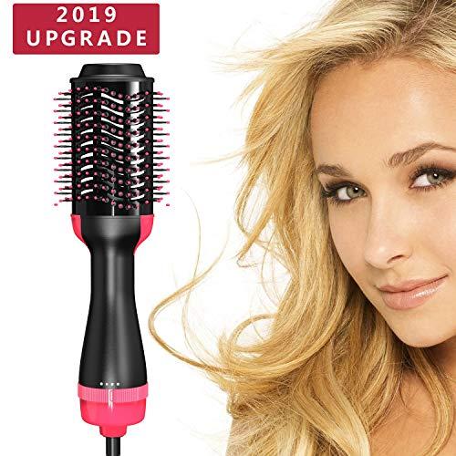 PLYRFOCE Hot Air Brush One Step Hair Dryer,Negative Ionv Straighten & Curl Volumizer Brush for All Hair Types