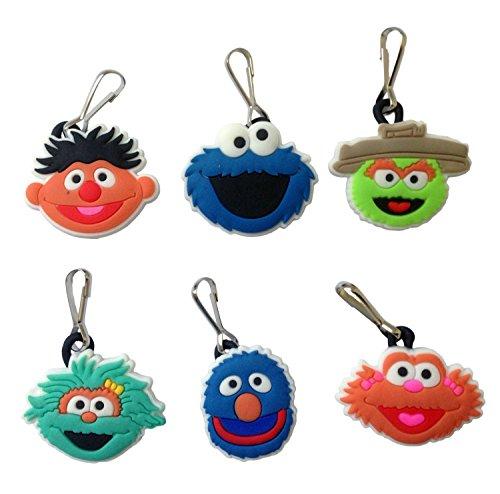 Sesame Street Snap Hook Zipper Pulls 6 Pcs Set #2 (Sesame Street Hook)