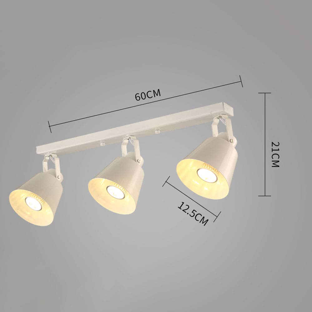 Mei Xu Track Light - Track Head Clothing Store Living Room Wall Gallery Spotlight - Black/White - 5W/10W - 60cm Track Lamp (Color : White, Size : 5W)
