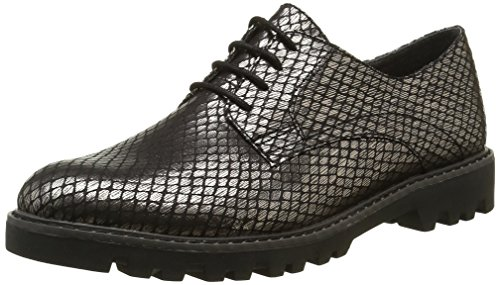 964 Cordones Negro para de 23317 Struct Pewter Oxford Mujer Zapatos Tamaris tqvPpx