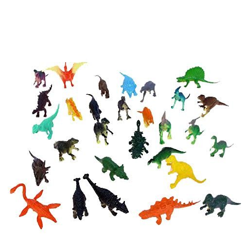 Collectable Vinyl Mini Dinosaur Set of 36 - Assorted Novelty Mini Prehistoric Animal Figurines | Party Favor Variety Pack 72 Count of Small Dinosaurs for Kids Birthday Parties and Festivities