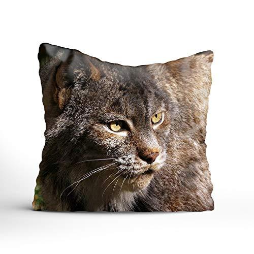 Lynx Car Seat Cover - Lynx Cats Home Decorative Throw Pillow Cover Cushion Throw Pillowcase for Car Seat Sofa Chair Room Decor Square