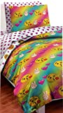 Bed in a Bag Emoji Twin Comforter and Sheet Set Pillow Case Sham