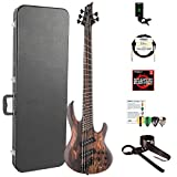 ESP LB1005SEMSRNS-KIT-2 B Series B-1005SE Multi-Scale 5-String Electric Bass Guitar, Natural Satin