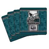Philadelphia Eagles Super Bowl LII 52 Champions Neoprene 4-Pack Coaster Set