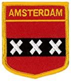 Amsterdam (Shield) Embroidered Patch 6cm X 7cm (2 1/2