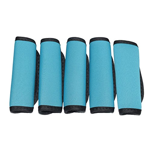 - Orchidtent 5 Pack Soft Comfort Neoprene Water-Resistant Handle Wraps /Grip / Identifier / Hand Luggage for Travel Bag Luggage Suitcase (blue)