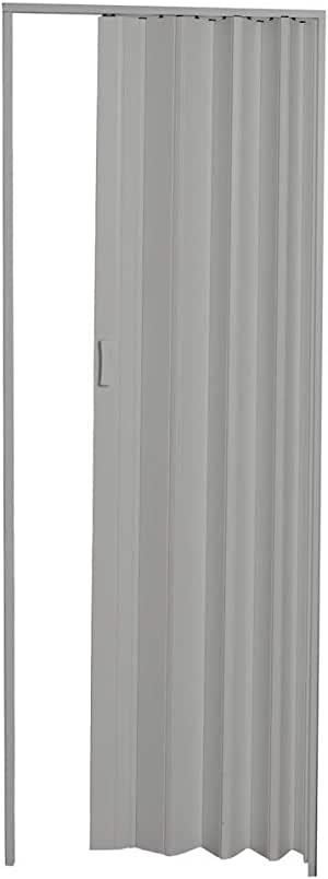 Porta Sanfonada em Pvc 210x62cm Cinza