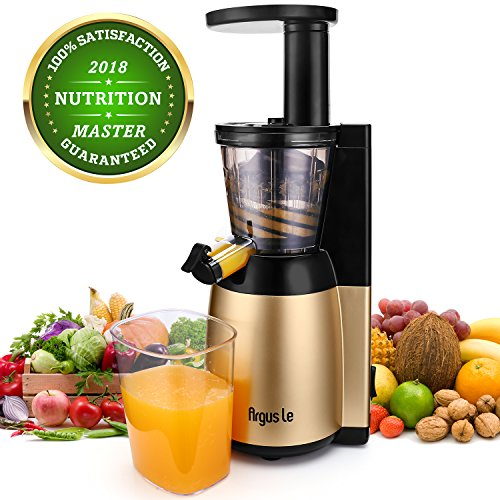 Argus Le Slow Juicer Machine, Easy to Clean Masticating Juicer Extractor, Quiet Motor and Reverse...