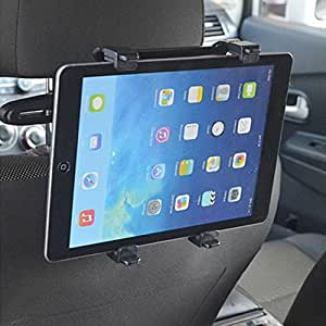 "WayWay Car Headrest Seat Back Mount Holder-360°Degree Adjustable Rotating Travel Kit For iPad, Samsung Galaxy, Motorola Xoom, And all Tablets 8""to 12"" (Black,Pack of 1)"