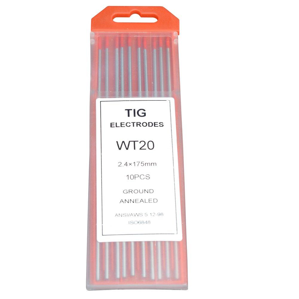 Rstar Tig Welding Tungsten Electrodes 2% Thoriated 3/32' x 7' (Red, WT20) 10-Pack Rstar Welding equipment manufacturing co. LTD wt20 3/32*7