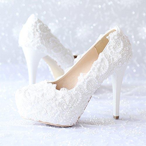 blanca estilete alto mano Tacón a hechos Zapatos boda vestido de Sandalias XIE la Princesa Zapatos mujeres de 10CM novia las de y noche tacón de Decalques de danza de Partido y qCaxw4