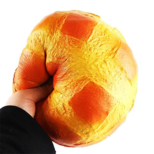 Dreamyth Squishy Toy Jumbo Colossal Pineapple Bun Bread Super Soft Slow Rising SqueezeToy Relieve Stress Toy Gift New (yellow)