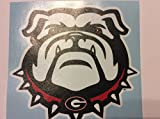 Georgia Bulldog Large Die Cut Vinyl Decal Set of 2, New Bulldog Head, Corn Hole