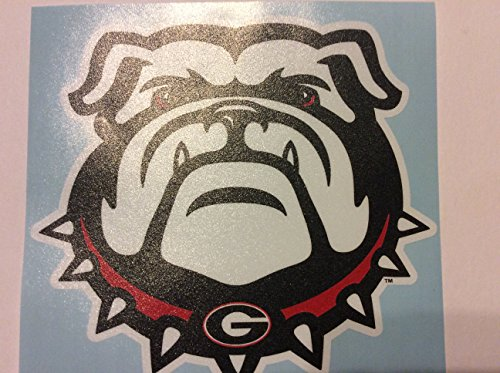 (Georgia Bulldog Extra Large Die Cut Vinyl Decal, New Bulldog Head, Cornhole)