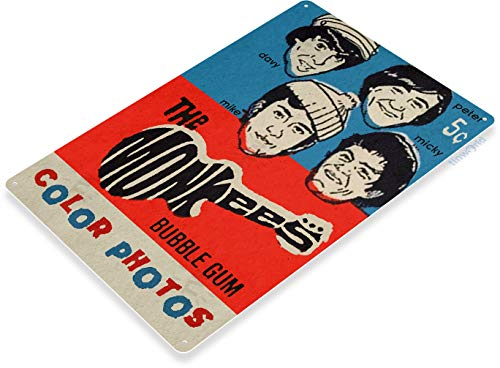 (Tinworld TIN Sign C437 The Monkees Bubble Gum Retro Vintage Kitchen Cottage Store Rock Band Sign)