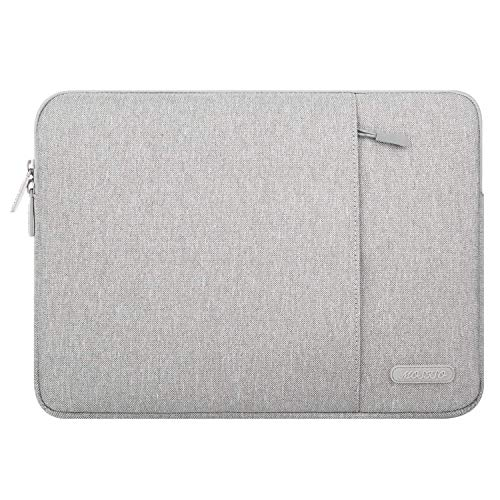 MOSISO Laptop Sleeve Bag Compatible 17-17.3 Inch MacBook Pro, Thinkpad Chromebook Notebook Tablet, Vertical Style Water Repellent Polyester Case Cover with Accessory Pockets, Gray