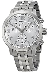 Tissot PRC 200 Silver Chronograph Quartz Sport Men's watch #T055.417.11.037.00