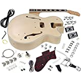 Solo GF Style DIY Guitar Kit, Maple Hollow Body Rosewood FB, Vintage Tremolo, GFK-10