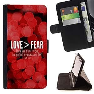 Momo Phone Case / Flip Funda de Cuero Case Cover - BIBLIA Love> Miedo - Juan 4:18; - LG Nexus 5 D820 D821