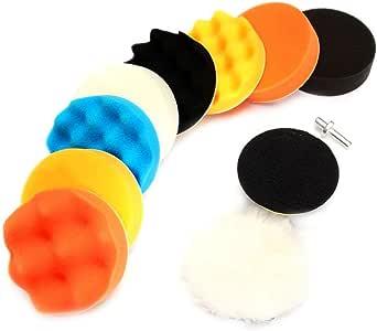 qiilu Espuma pulir de cono pulir Pads para ruedas utilizar con taladradora