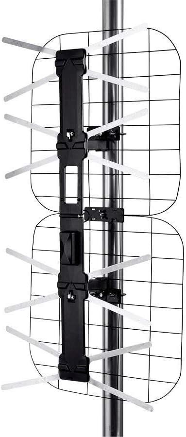 Monoprice Foldable Long Range HD8 Outdoor HD Antenna, 80 Mile Range