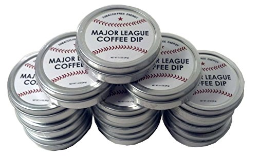 Major League Coffee Dip (Pack of 12) Quit Chewing Tin Can Non...
