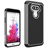LG G5 Case, RaxnWell 2-Piece Style [Shockproof] [Anti-Slip] [Scratch Resistant] Protective Hard Case for LG G5 (Gray)