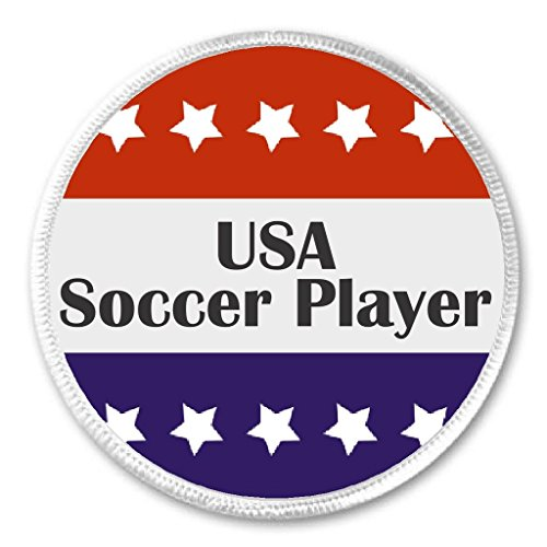 USA Soccer Player Red White Blue Stars 3