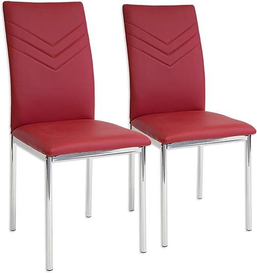 porpora Albatros 2940 VERONA Set di 4 sedie da pranzo piede cromato SGS tested