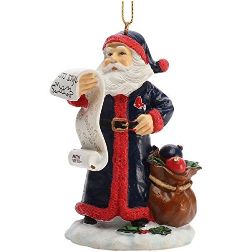 - The Memory Company MLB Boston Red Sox Naughty/Nice List Santa Ornament, One Size, Multicolor