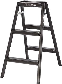 Casa Escalera de tres peldaños, Escalera de ingeniería para exteriores Escalera de pasillo de hogar Escalera de doble cara de metal Tamaño 47 * 18 * 85 cm Engrosado: Amazon.es: Bricolaje y herramientas