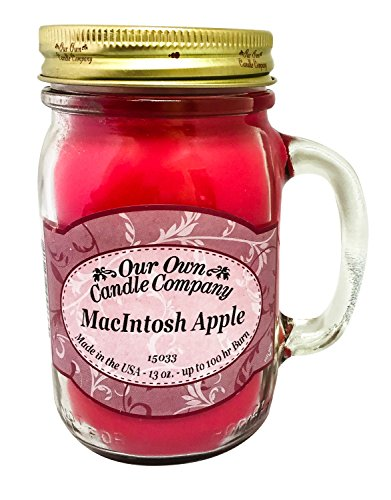 Our Own Candle Company MacIntosh Apple Scented 13 Ounce Mason Jar Candle