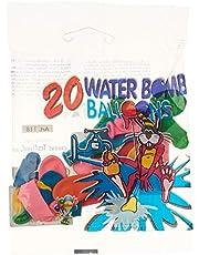 Globos Festival Water Bomb Balloons Set, 20 Pieces, Multicolor