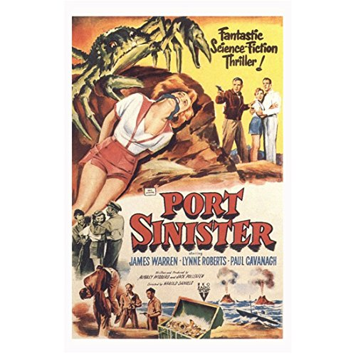 "Port Sinister 11 inch by 17 inch LITHOGRAPH w/White Border ""Fantastic Science Fiction Thriller!"" kn"