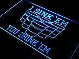 ADVPRO I Sink 'EM You Drink 'EM Beer Pong LED Sign Night Light j556-b(c)
