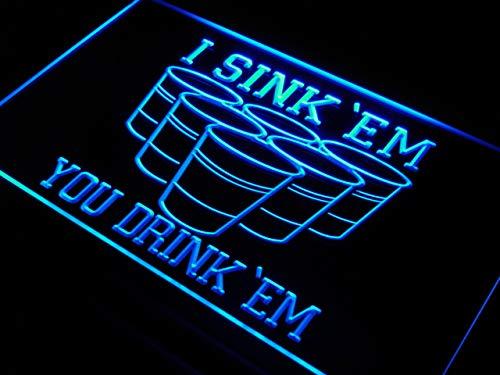 'EM You Drink 'EM Beer Pong Light Sign ()
