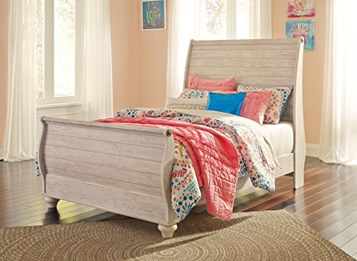 Ashley Full Sleigh Bed - Signature Design by Ashley B267-92 Sleigh Bed Rails, Full